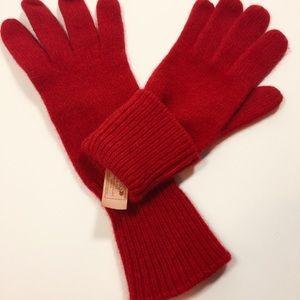 Aris Red Angora Lambswool Womens Gloves S Vintage